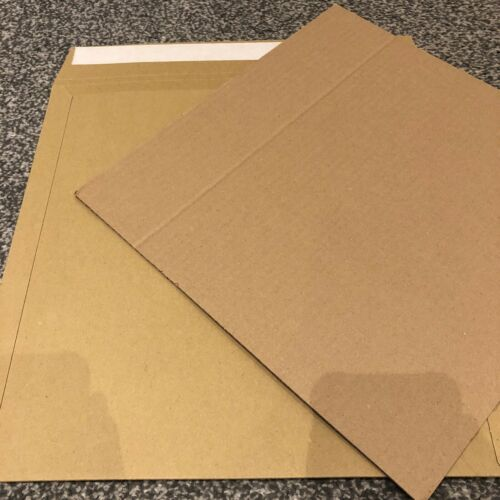 """500 12/"""" STRONGEST BROWN RECORD MAILERS ENVELOPES /& 500 STIFFENERS NEW"""