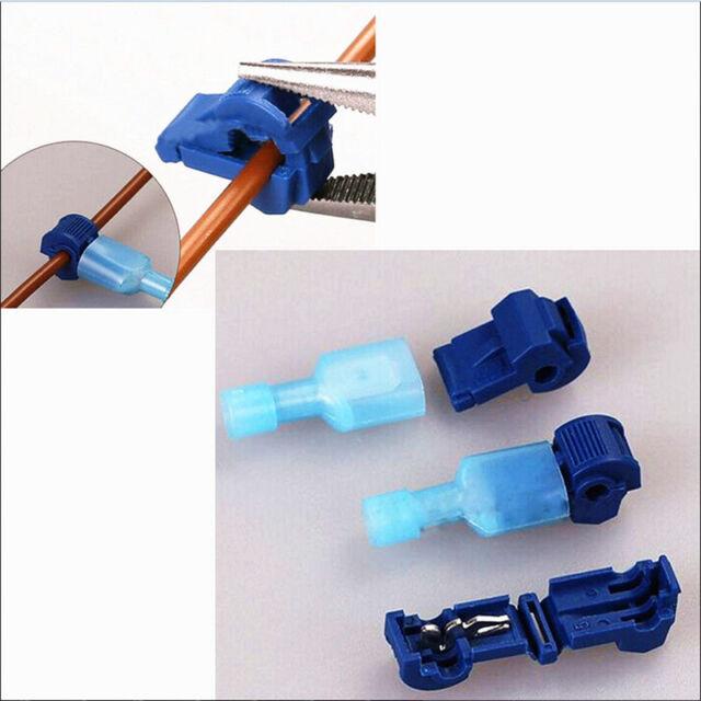 100x Quick Splice Lock Suitcase Wire Connectors Electrical Tap Terminals Crimps