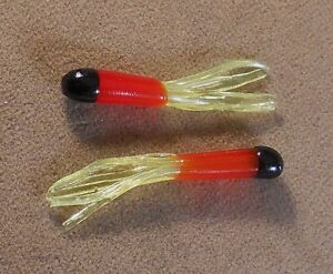 Panfish Tube Fishing Lure 1 Pack Of 15 Soft Plastic 1 1//2 in Mini Tubes Crappie