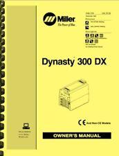 Miller Dynasty 300 Dx 300dx Welder Owners Manual