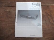 Technics SL P 202 A Bedienungsanleitung TOP !!! Reinschauen !!!