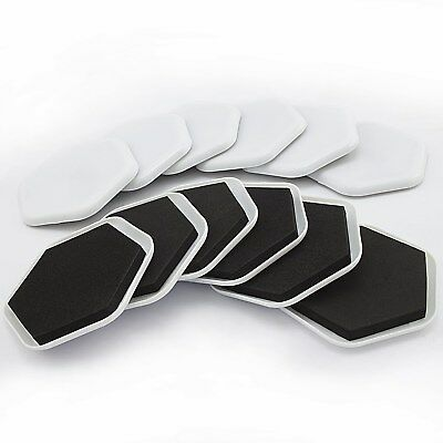 12 Pack Large Furniture Moving Sliders Pads Carpet Felt