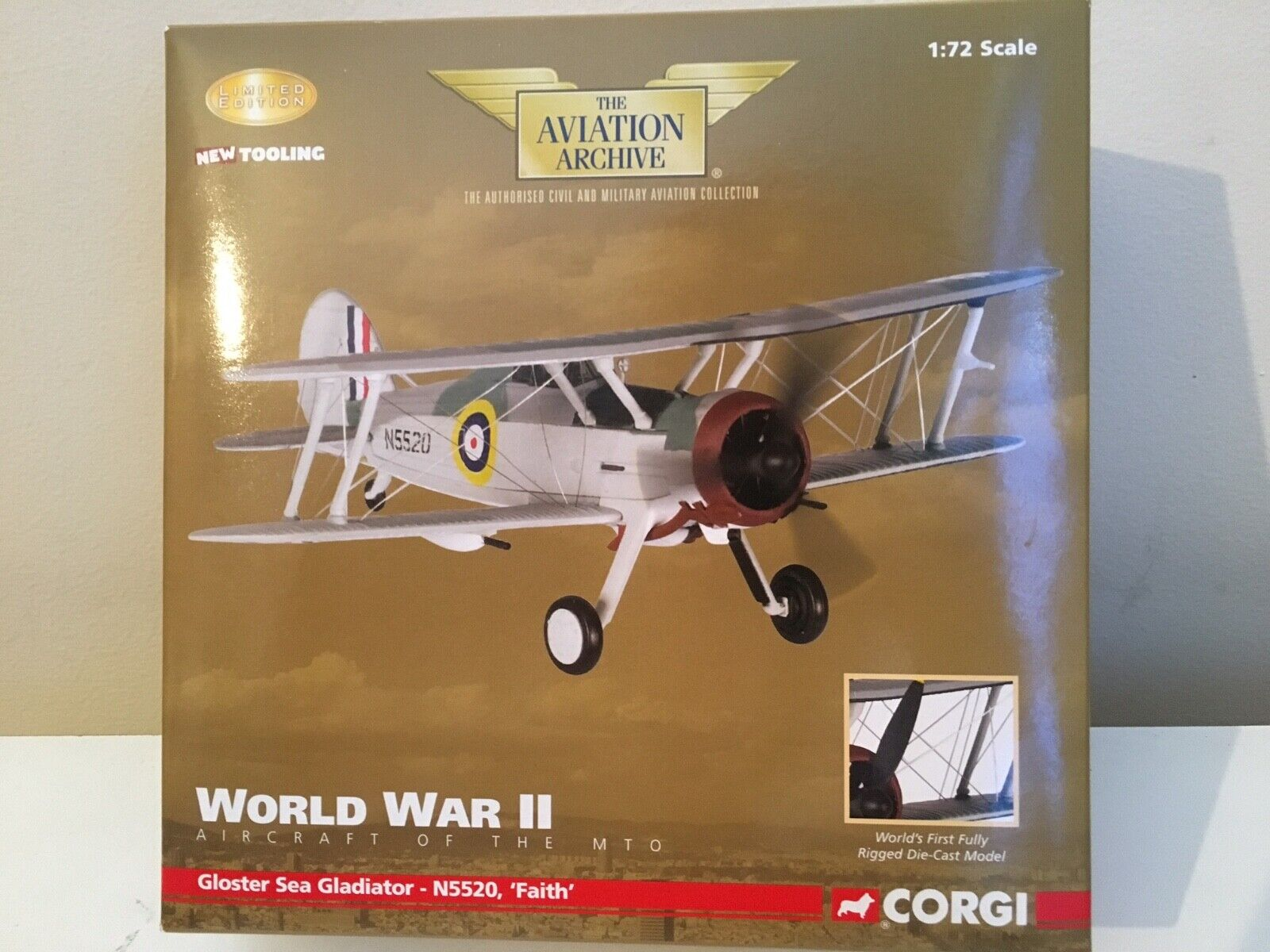 1 72 Corgi AA36203 - Gloster Sea Gladiator - N5531, 'FAITH', Malta - June 1940