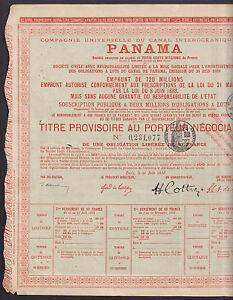 1888-Compagnie-Universelle-Canal-Interoceanique-de-Panama-bond-with-coupons