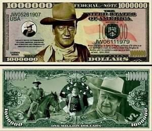 JOHN-WAYNE-BILLET-1-MILLION-DOLLAR-US-Collection-cinema-western-Serie-Far-West