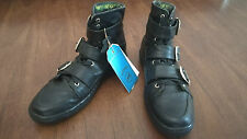 Versace x H&M Buckle Belt Lace Up Sneakers Size 45 US 12 Black DEAD STOCK