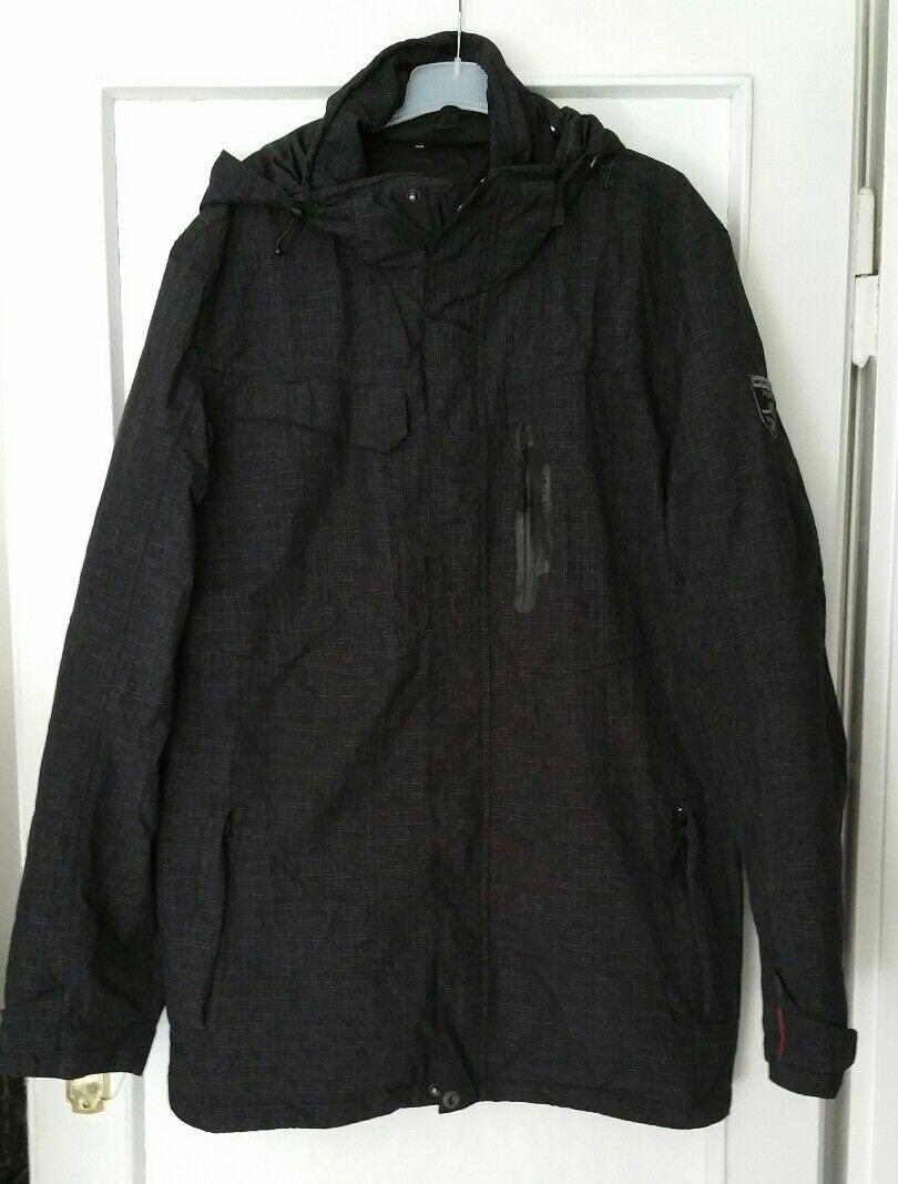 MOORHEAD - ZWEI in EINS Herren Outdoor Winter Jacke in 56 XL schwarz dunkelgrau