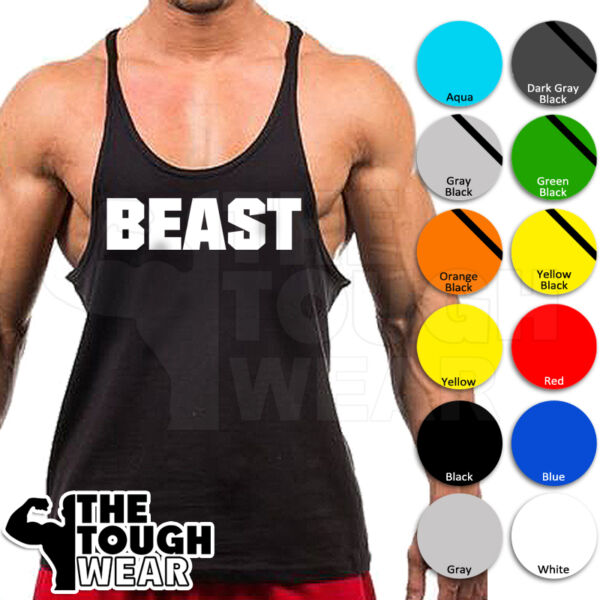 0a2f42618acff BEAST Mode Gorilla Gym Singlets Men s Tank Top Bodybuilding Workout MMA  Art-13. Hover to zoom