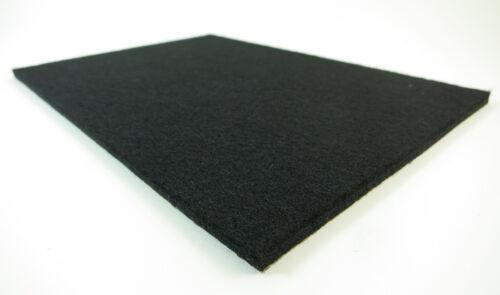 5 Profi Filzplatten 150x210mm 6mm dick Filz stark selbstklebend schwarz