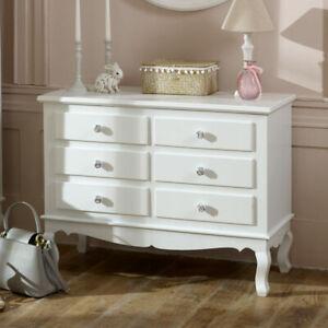 Dettagli su GRANDE decorata 6 CASSETTI CASSETTIERA Rose Maniglia Mobili per  camera da letto Vintage- mostra il titolo originale