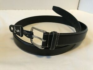 POLO-RALPH-LAUREN-Black-Leather-Dress-Casual-Belt-Mens-size-38-NEW-NWT