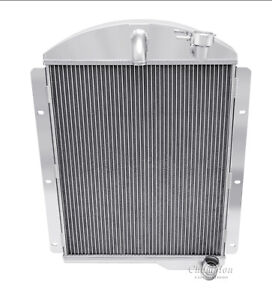 1941 Ford Truck Chevy config Radiator,Polished Aluminum 3 Row Champion Radiator
