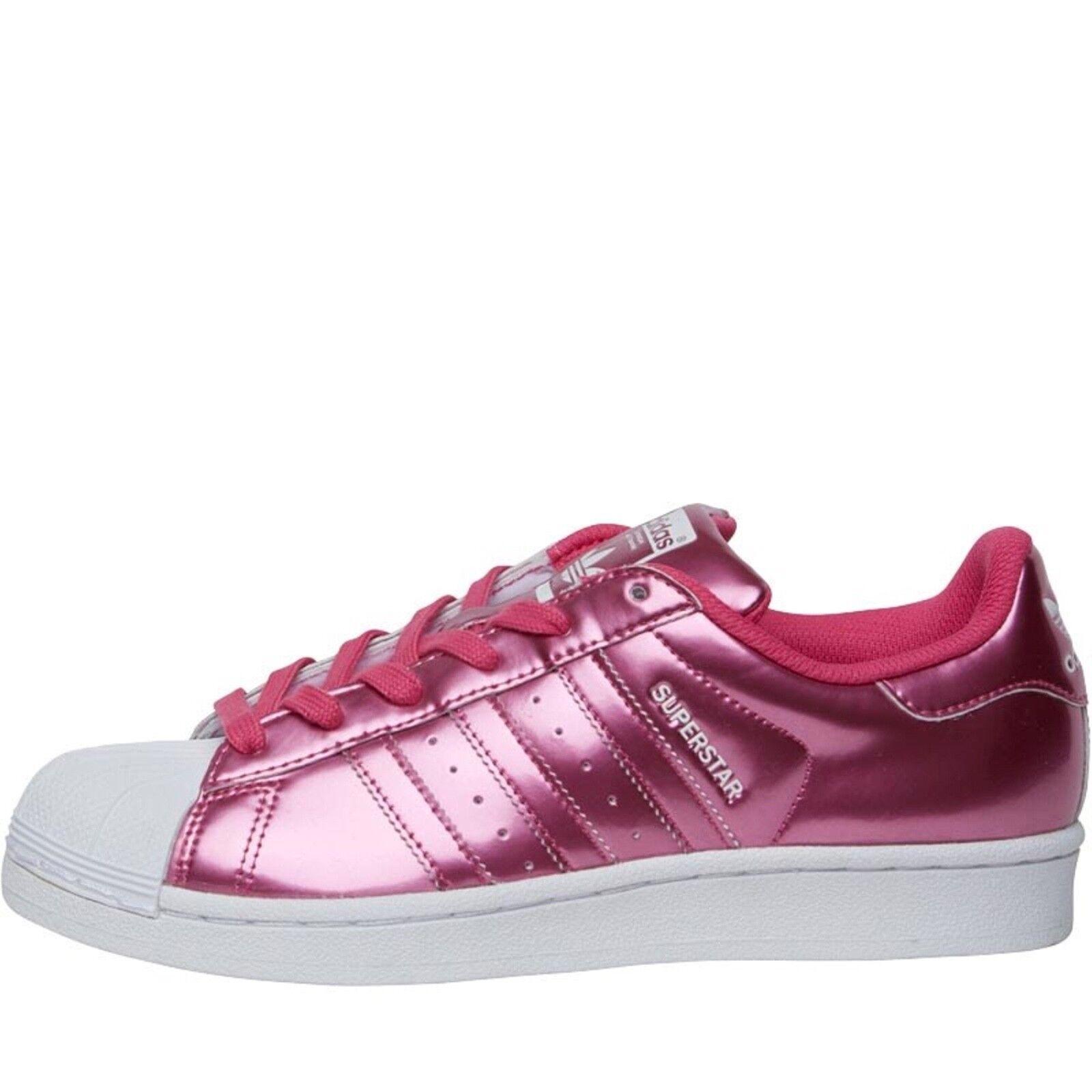 Ladies adidas originals superstar trainers pink white - size UK 6.5