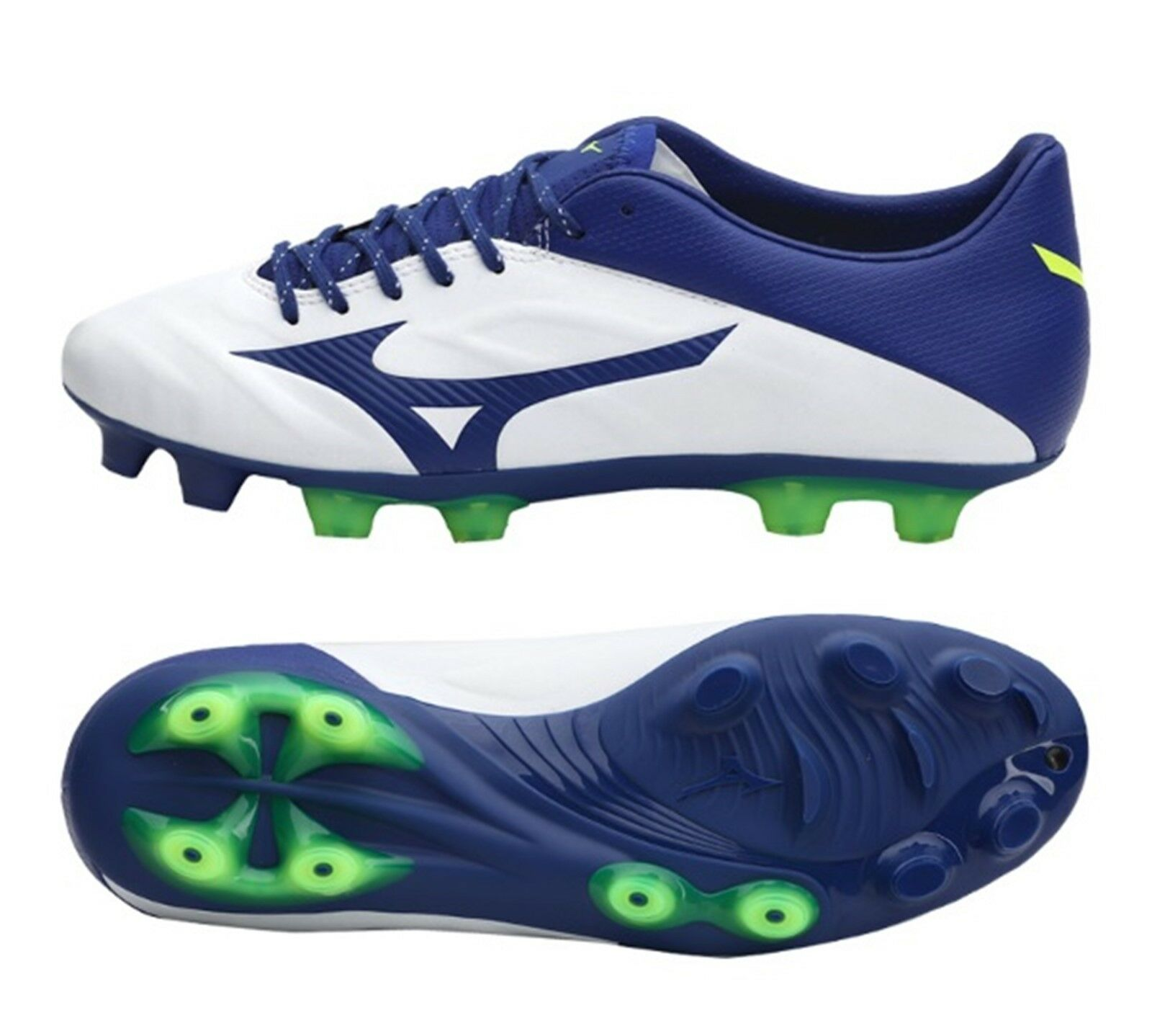 Mizuno Hombre Rebula 2 V2 SL Botines De Fútbol blancoo Azul Fútbol Spike P1GA197419