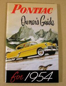 1954 Pontiac Motor Company Owners Manual C54poom Ebay