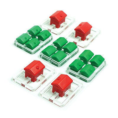 Accessory for MONOPOLY board game: set of HOLDERS FOR HOUSES AND HOTELS