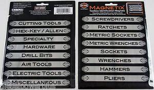 16 Tool Box Magnets Snap On Matco Craftsman Label Harley Davidson