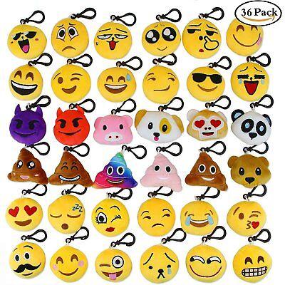 Aiduy Emoji Portachiavi Portachiavi Decorazion Mini Pop di Peluche Portachiavi