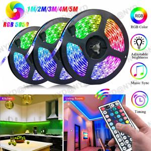 1-10m-RGB-Waterproof-LED-Strip-Light-SMD-44Key-Remote-12V-DC-Power-Kit-5050