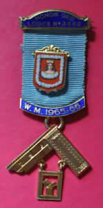 Past Master's Jewel Honor Deo Lodge No 3562 London hallmark Mercers' School