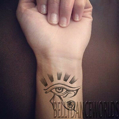 1 PAIR EGYPTIAN EYE OF HORUS EYE OF RA TEMPORARY TATTOO TRIBAL WRIST ARM  STICKER