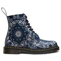 Dr.martens Pascal Bandana 8 Eyelet Navy White Womens Boots