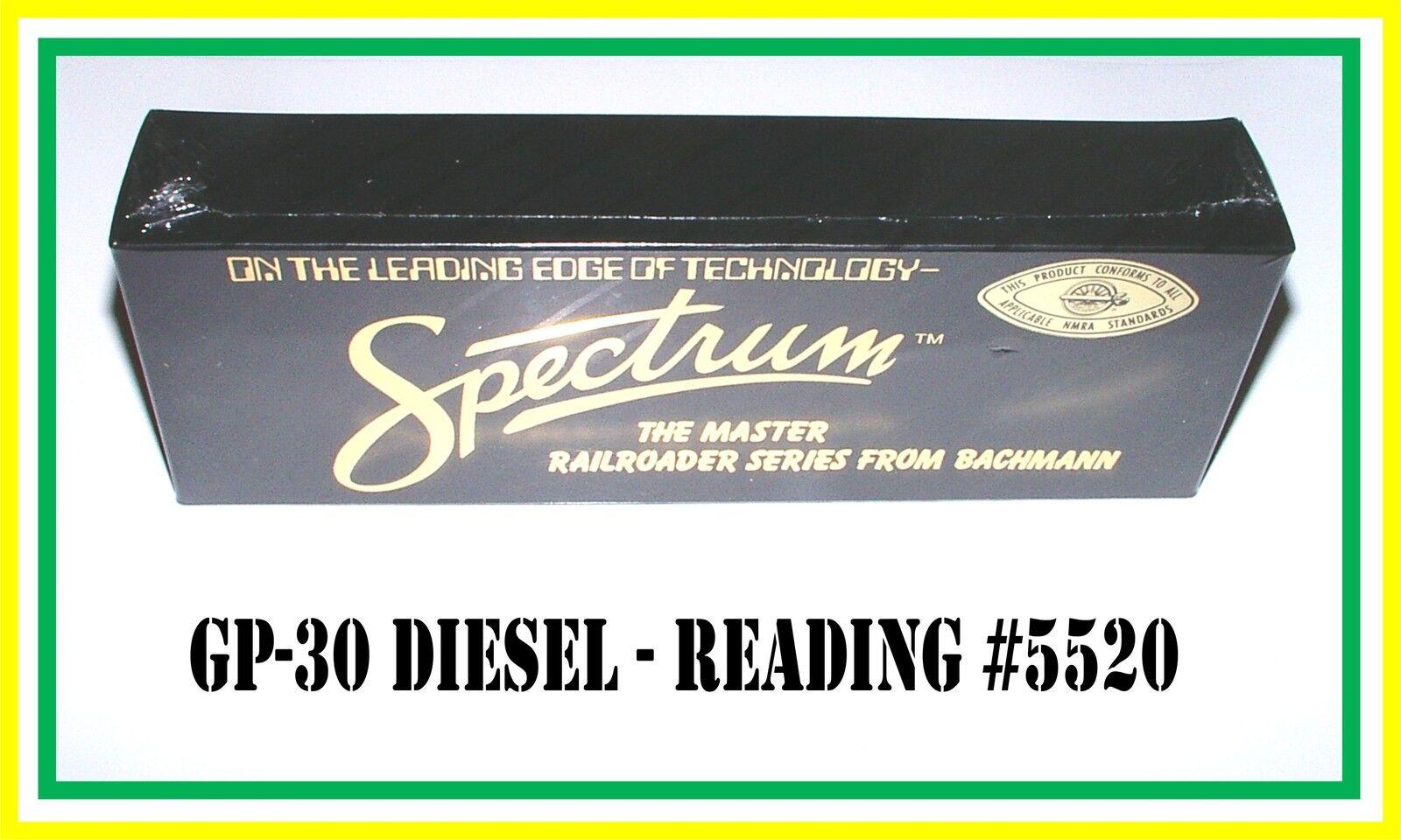 Bachmann Spectrum HO Scale: GP-30 Diesel _ Reading  5520 _  MISB