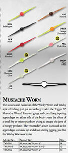 RAPALA-TRIGGER-X-1-034-amp-1-5-034-amp-2-034-MUSTACHE-WORM-Variety-of-Colours