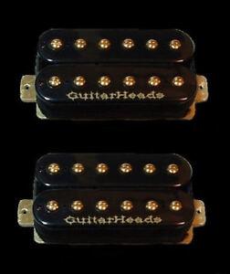 GUITAR-PARTS-GUITARHEADS-pickups-Gold-Rush-Humbucker-pont-cou-Set-2-Noir