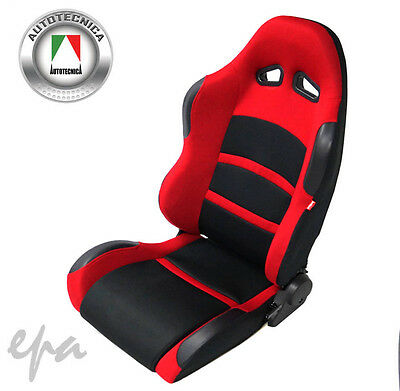 BRAND NEW AUTOTECNICA SPORTS RACING BUCKET SEAT ADR APPROVED RED