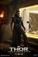 Thor Movie Poster - Loki : 11 X 17 Inches Tom Hiddleston Poster (dark World 3)