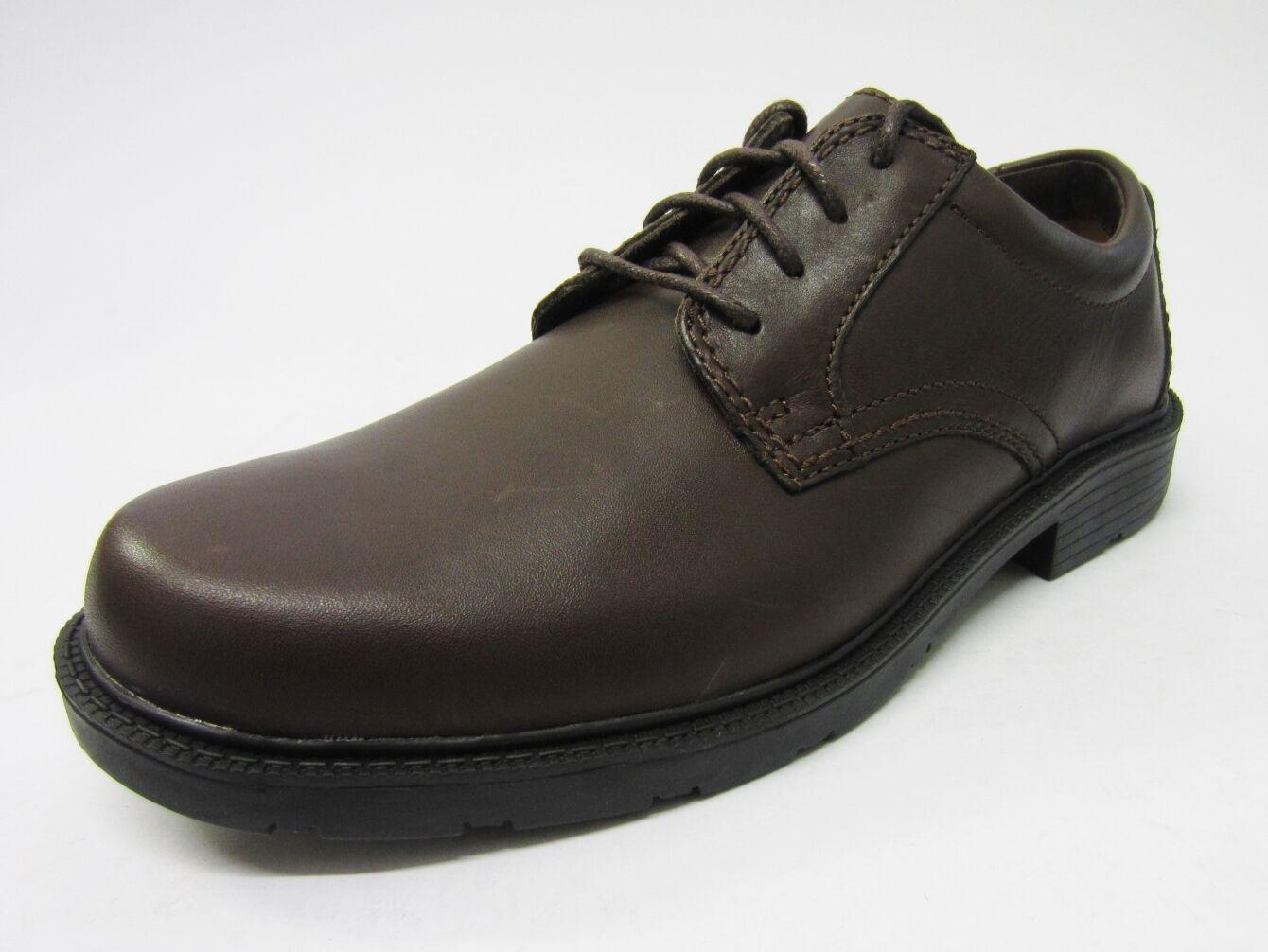 Clarks Lair Reloj De Hombre Marrón Oscuro Cuero ~ Casual encaje ancho Zapato ~ Cuero G c62434