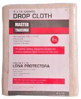 (24) Ea Master Tradesman 58908 4' X 15' 8 Oz Prof Canvas Painter's Drop Cloths