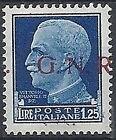 1944 RSI GNR VERONA 1,25 LIRE MNH * VARIETà .G.N.R - RSI104