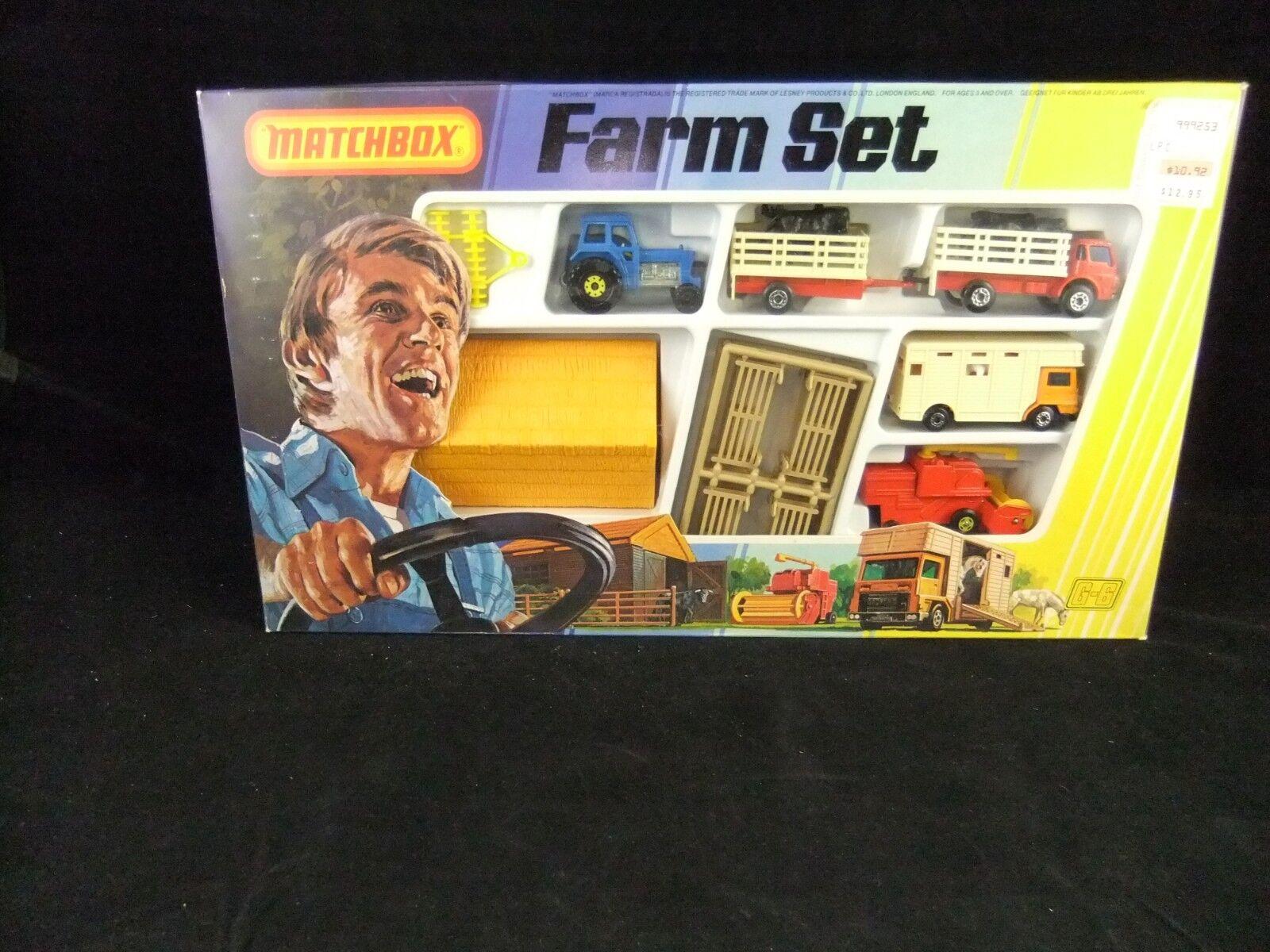 1979 Lesney MatchBox  G6 G-6 Landwirtschaft Set, In Unused Condition In The Original Box