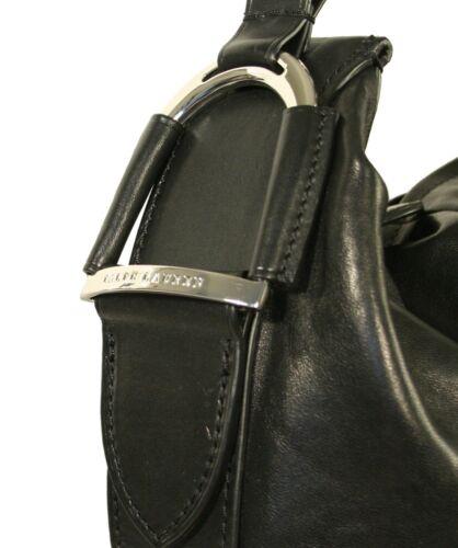 Horseshoe Purple Lauren Cuir Ralph Neuf Besace Label Noir Sac zqgnX