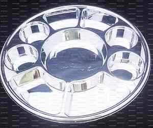 Silver Nine Compartment plastic plate or Plastic Thali - 200 plates ...