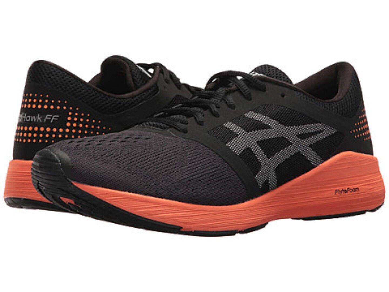 ASICS T7D2N.9030 ROADHAWK FF Mn's (M) Black orange White Mesh Athletic shoes