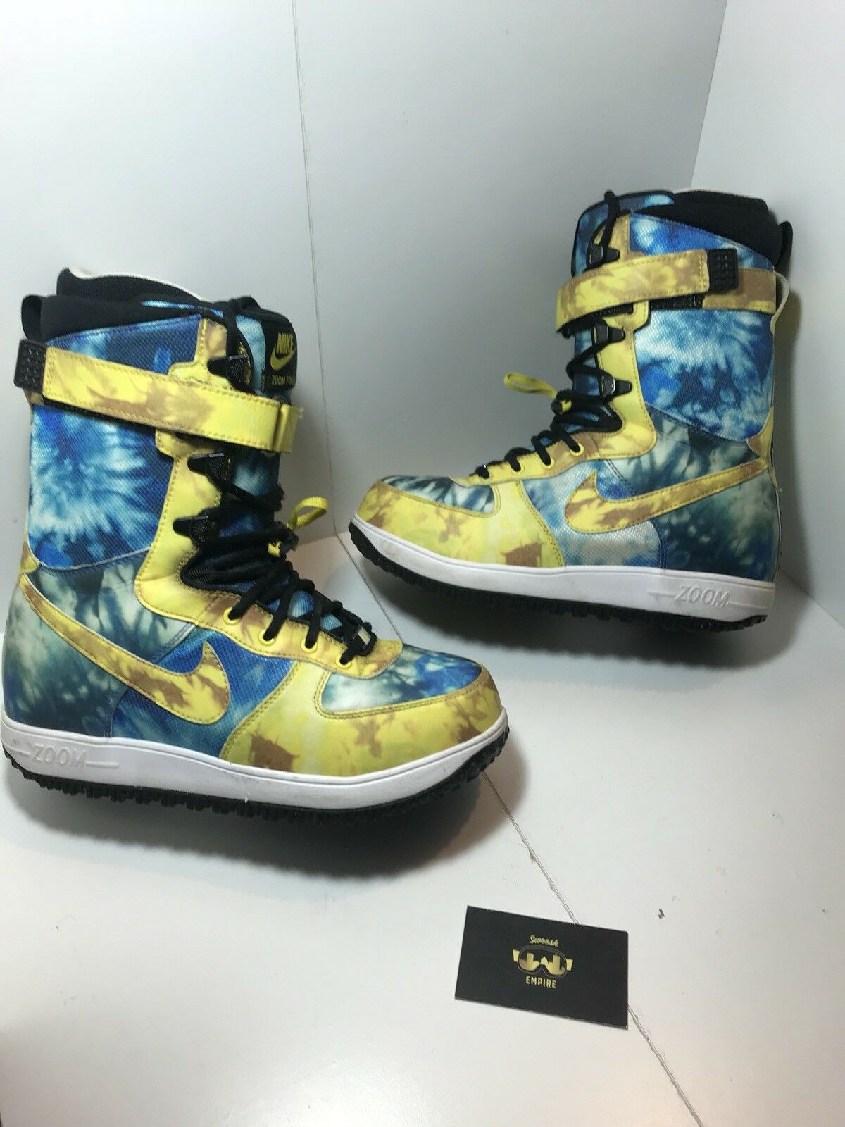 Nike Zoom Force 1 ZF1 Snowboarding Boots Tie-Dye 334841-271 Size 8 US Tie-Dye Boots Rare 3af89e