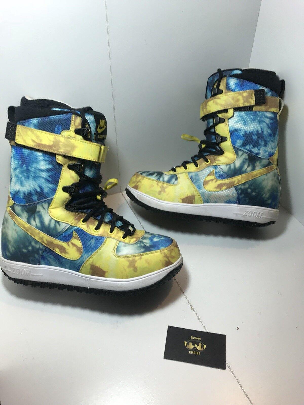 Nike zoom force force force 1 zf1 snowboard - stiefel 334841-271 größe 8 us - krawatte farbstoff selten b70b65
