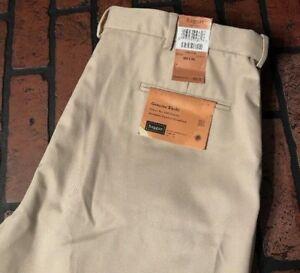 Haggar-Genuine-Khaki-Classic-Fit-Flat-Front-Khaki-Pants-Men-039-s-Size-38-x-34