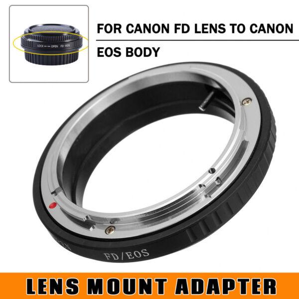 Amical Fd-eos Anneau Adaptateur No Glass Pour Canon Fd Lentille Vers Eos Ef Caméra L80