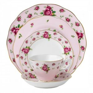 Royal-Albert-New-Country-Roses-Pink-20Pc-China-Set-Service-for-4