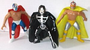 Mexican Lucha libre Toy Wrestler Package Of 6 Figures La Parka Bootleg Vintage