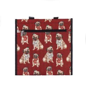 Signare Mops Hunde Gobelin Einkaufstasche Beutel Shopper Pug Dog Tapestry