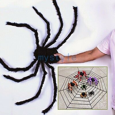 1pcs Furry Fuzzy Halloween Posable Legs Creepy Spider Holiday Decoration Props