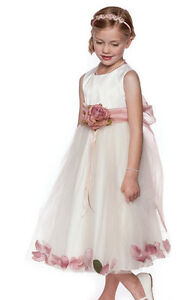 Dusty-Rose-Petals-Flower-Girls-Dresses-Sash-dresses-Wedding-Pageant-Bridesmaid