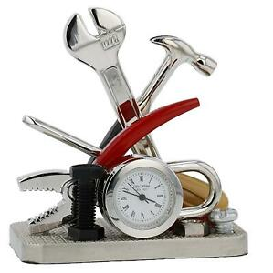 Miniature-Tools-and-Padlock-DIY-Novelty-Collectors-Clock-9428
