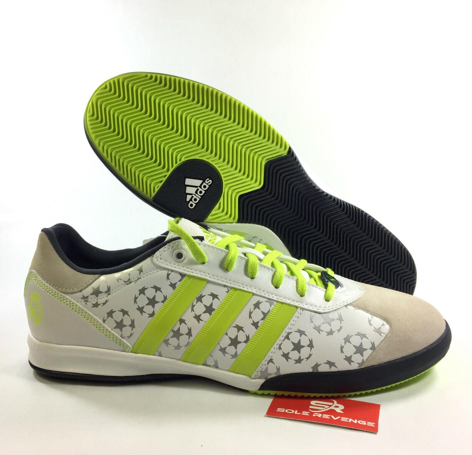 eea0501409de4 New adidas AdiStreet Real Madrid Theme Leisure shoes Soccer White Yellow  G19501