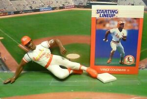 1988  VINCE COLEMAN - Starting Lineup - SLU - Loose With Card - ST. LOUIS CARDS